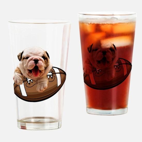 Cute Bulldogs Drinking Glass