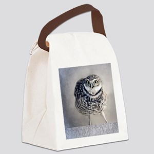 Burrowing Owl Canvas Lunch Bag