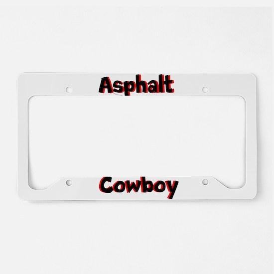 Asphalt Cowboy Mens Ringer Shirt License Plate Hol