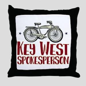 Key West Spokesperson Throw Pillow