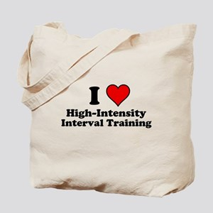 I Heart High-Intensity Interval Training Tote Bag