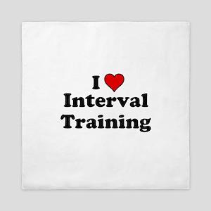 I Heart Interval Training Queen Duvet