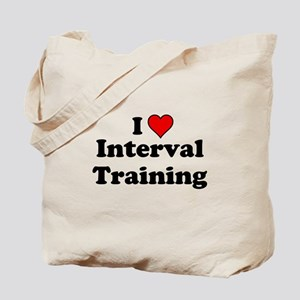 I Heart Interval Training Tote Bag