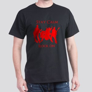 Stay Calm Rock On Mens Music T Shirt T-Shirt