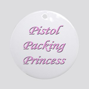 Pistol Packing Princess Ornament (Round)