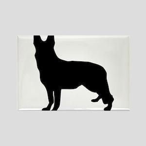 German Shepherd Silhouette Magnets