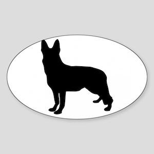German Shepherd Silhouette Sticker