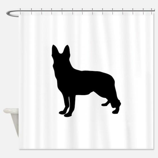 German Shepherd Silhouette Shower Curtain