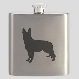 German Shepherd Silhouette Flask