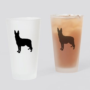 German Shepherd Silhouette Drinking Glass