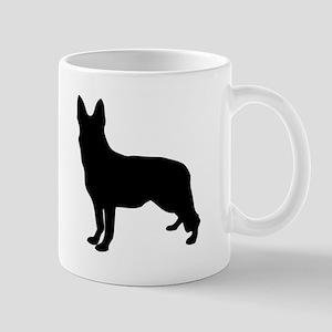 German Shepherd Silhouette Mugs