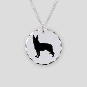 German Shepherd Silhouette Necklace
