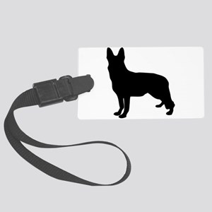 German Shepherd Silhouette Luggage Tag