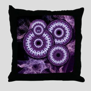 Purple Haze Swirls 2 Throw Pillow