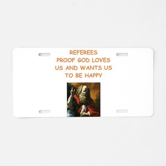referee Aluminum License Plate
