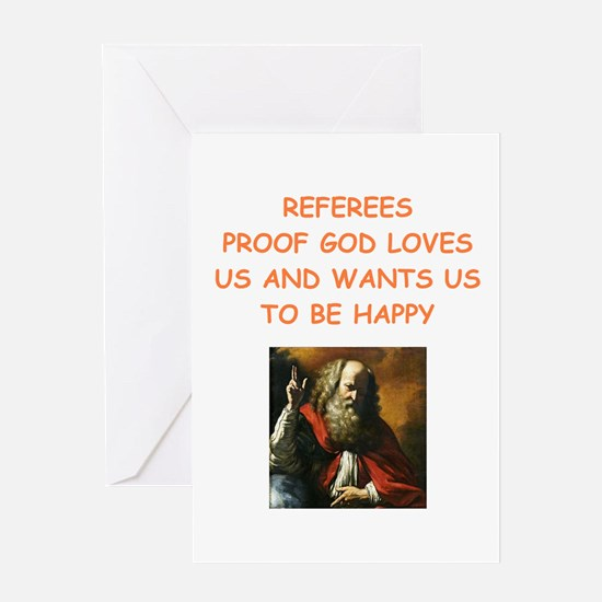 referee Greeting Cards