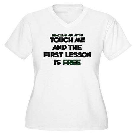 Touch me, 1st lesson FREE Women's Plus Size V-Neck