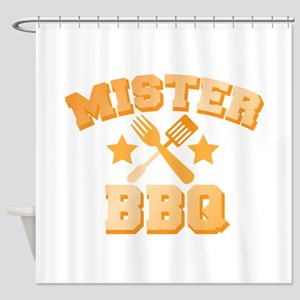 Mister BBQ Barbecue with spatula and fork Shower C