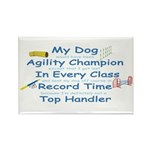 Agility Champion Rectangle Magnet (10 pack)