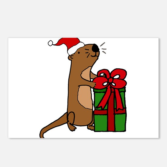 Funny Sea Otter with Chri Postcards (Package of 8)