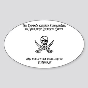Captain's Compliments Oval Sticker