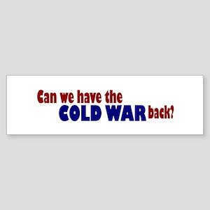 Cold War Bumper Sticker