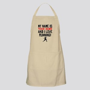My Name Is And I Love Running Apron