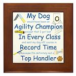Agility Champion Framed Tile