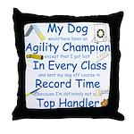 Agility Champion Throw Pillow