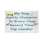 Agility Champion Rectangle Magnet