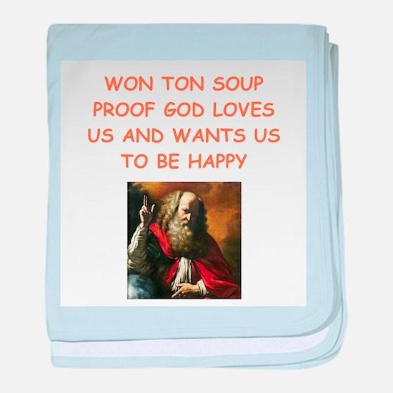 won ton soup baby blanket