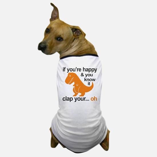 T-Rex clap your hands Dog T-Shirt