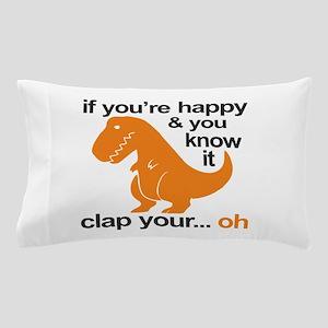 T-Rex clap your hands Pillow Case