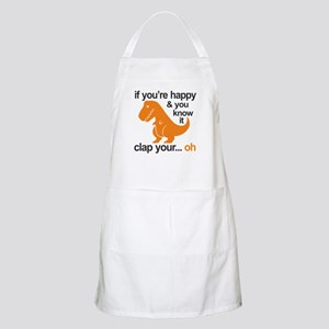 T-Rex clap your hands Light Apron