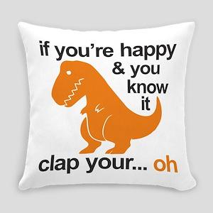 T-Rex clap your hands Everyday Pillow
