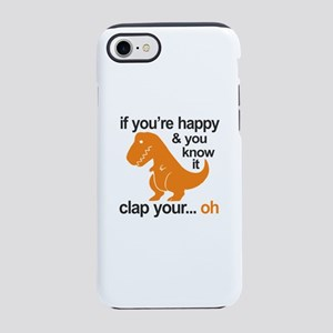 T-Rex clap your hands iPhone 8/7 Tough Case