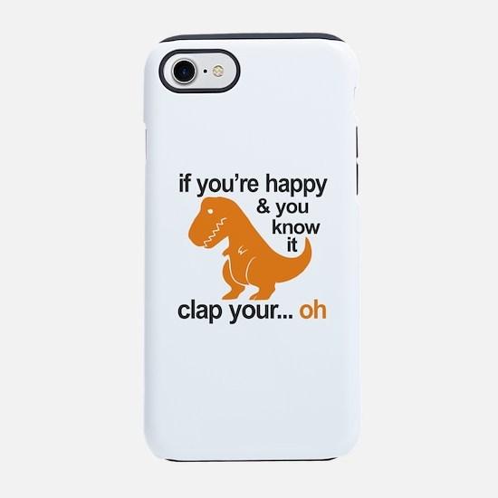 T-Rex clap your hands iPhone 8/7 Tough Case