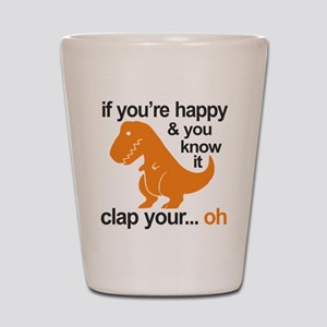 T-Rex clap your hands Shot Glass