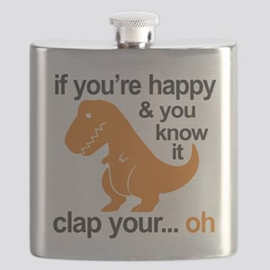 T-Rex clap your hands Flask