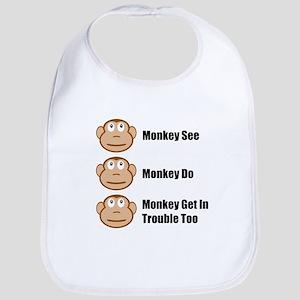 Monkey See Monkey Do Bib