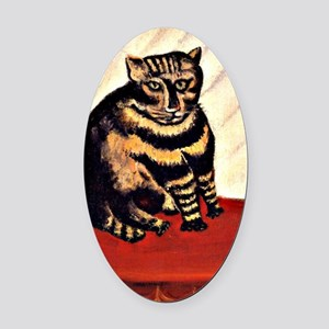 Rousseau - The Tiger Cat Oval Car Magnet