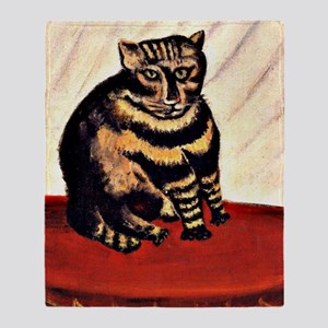 Rousseau - The Tiger Cat Throw Blanket