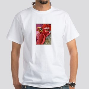 COLORFUL CHICKENS White T-Shirt