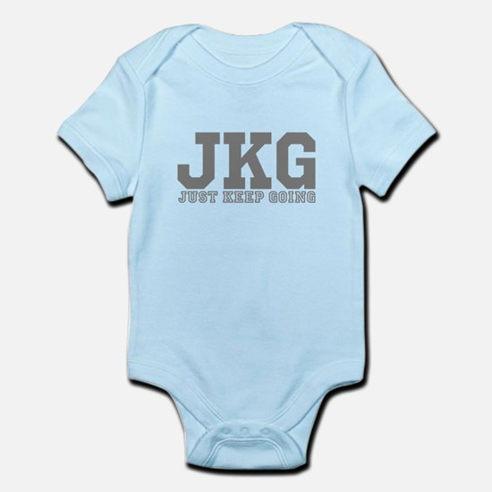 Just Keep Going Gray Body Suit