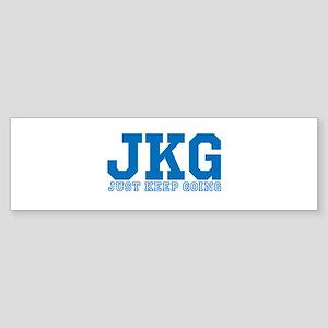 Just Keep Going Blue Bumper Sticker