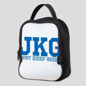 Just Keep Going Blue Neoprene Lunch Bag