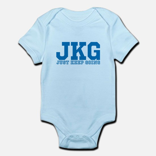Just Keep Going Blue Body Suit
