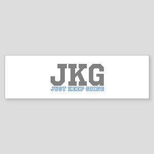 Just Keep Going Gray Blue Bumper Sticker