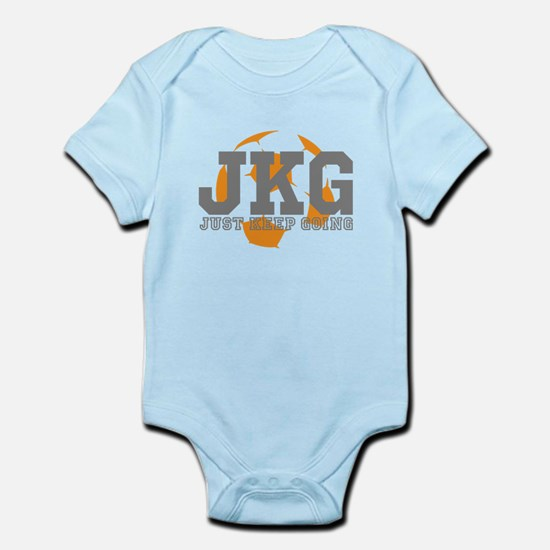 Just Keep Going Soccer Gray Body Suit