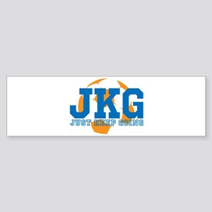 Just Keep Going Soccer Blue Bumper Sticker